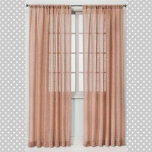 ❤ 4 for $25 ❤ #1096 New Sheer Curtain Panel Pink